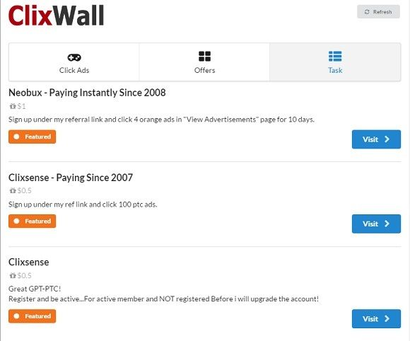 clixwall tofcash